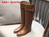 Hermes Jumping Boot in Tan Box Calfskin with Kelly Strap Replica
