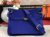 Hermes Jypsiere 28 Bag Electronic Blue Taurillon Clemence Leather Replica