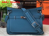 Hermes Jypsiere 28 Bag in Blue Taurillon Clemence Leather Replica