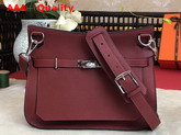Hermes Jypsiere 28 Bag in Burgundy Taurillon Clemence Leather Replica