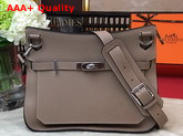 Hermes Jypsiere 28 Bag in Grey Taurillon Clemence Leather Replica