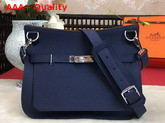 Hermes Jypsiere 28 Bag in Navy Blue Taurillon Clemence Leather Replica