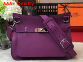 Hermes Jypsiere 28 Bag in Purple Taurillon Clemence Leather Replica