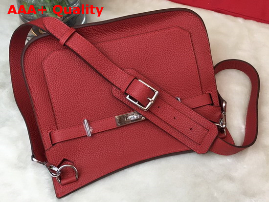 Hermes Jypsiere 28 Bag in Red Taurillon Clemence Leather Replica