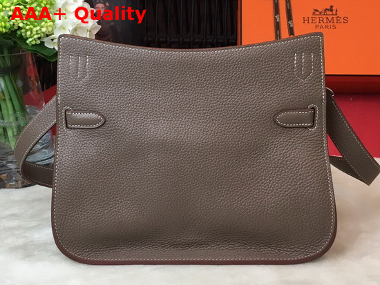 Hermes Jypsiere 28 Bag in Taupe Taurillon Clemence Leather Replica