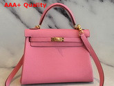 Hermes Kelly 25 in Pink Togo Calfskin Replica