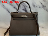 Hermes Kelly 25 in Taupe Togo Calfskin Replica