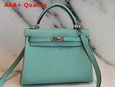 Hermes Kelly 25 in Turquoise Togo Calfskin Replica