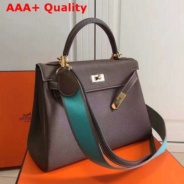 Hermes Kelly 32 Coffee Togo Leather Replica