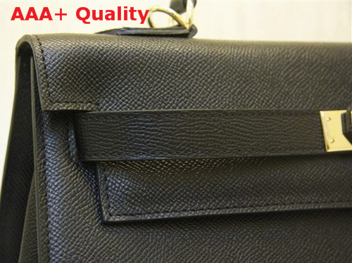 Hermes Kelly 32 Epson Leather Black Replica