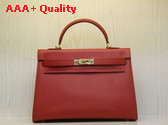 Hermes Kelly 32 Epson Leather Red Replica Hermes Kelly 32 Epson