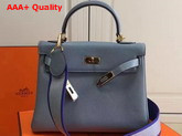 Hermes Kelly 32 Light Blue Togo Leather Replica
