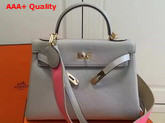 Hermes Kelly 32 Light Grey Togo Leather Replica