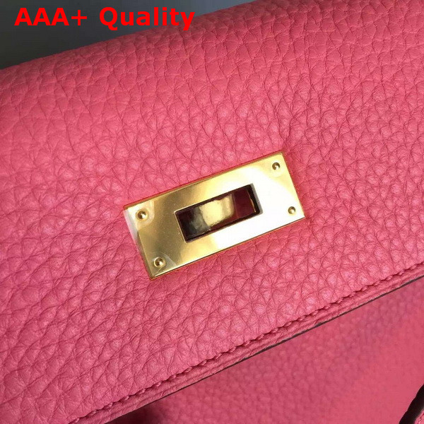 Hermes Kelly 32 Pink Original Leather Replica