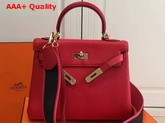 Hermes Kelly 32 Red Togo Leather Replica