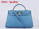Hermes Kelly 35 Blue Gold Replica