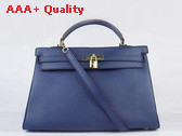 Hermes Kelly 35 Dark Blue Gold Replica