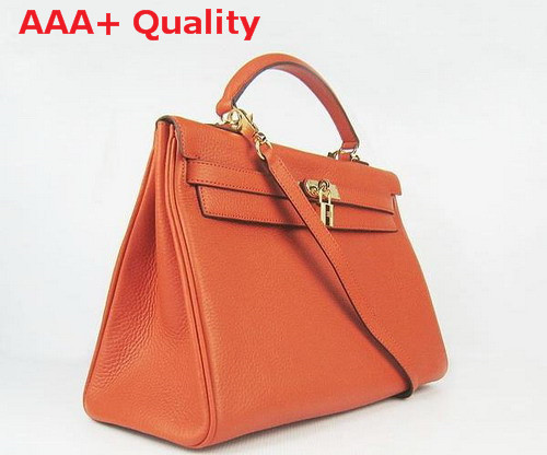 Hermes Kelly 35 Orange Gold Replica