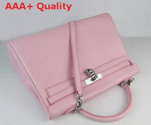 Hermes Fake Hermes Kelly 35 In Pink Real Leather Replica