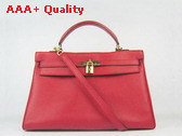 Hermes Kelly 35 Red Gold Replica