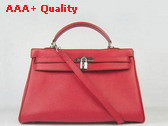 Hermes Kelly 35 Red Silver Replica