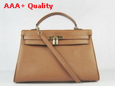Hermes Kelly 35 Tan Togo Leather Replica
