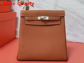 Hermes Kelly Ado II Backpack in Tan Taurillon Clemence Leather Replica