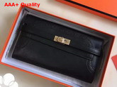 Hermes Kelly Ghillies Wallet Swift Leather Black Replica