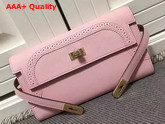 Hermes Kelly Ghillies Wallet Swift Leather Pink Replica