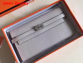 Hermes Kelly Wallet Light Grey Togo Leather Replica