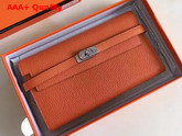 Hermes Kelly Wallet Orange Togo Leather Replica