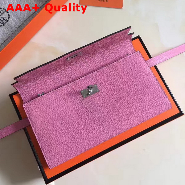 Hermes Kelly Wallet Pink Togo Leather Replica