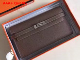 Hermes Kelly Wallet Taupe Togo Leather Replica