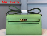 Hermes Kelly Wallet To Go Green Epsom Calfskin Gold Hardware Replica