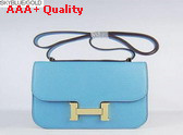 Hermes Large Constance Skyblue Gold Lock Replica