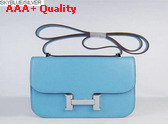 Hermes Large Constance Skyblue Leather Replica
