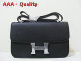 Hermes Large Constance Black Silver Lock Replica