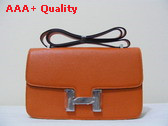 Hermes Large Constance Orange Silver Lock Replica