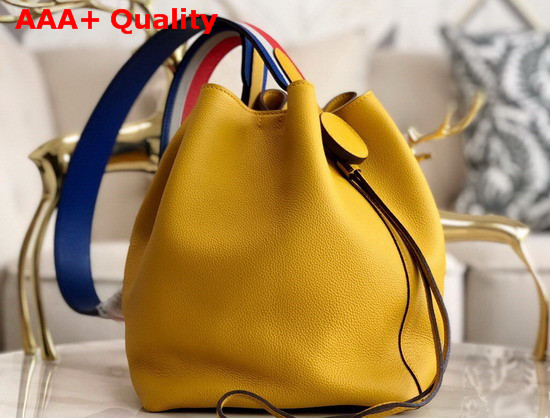 Hermes Licol Hermes 17 Bag in Yellow Evercolor Calfskin Replica