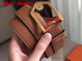 Hermes Licot Belt in Tan Taurillon Clemence Leather Replica