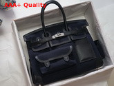 Hermes Limited Edition Cargo Birkin 35 cm Black Swift and Canvas Replica