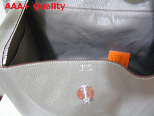 Hermes Lindy In Grey Leather Replica