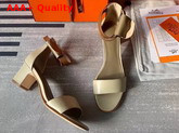 Hermes Manege Sandal Beige and Tan Calfskin Replica