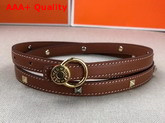 Hermes Medor Strap in Tan Swift Calfskin Replica