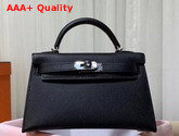 Hermes Mini Kelly 20cm Black Epsom Calfskin Replica