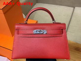 Hermes Mini Kelly 20cm Red Epsom Calfskin Replica
