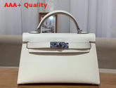 Hermes Mini Kelly 20cm White Epsom Calfskin Replica