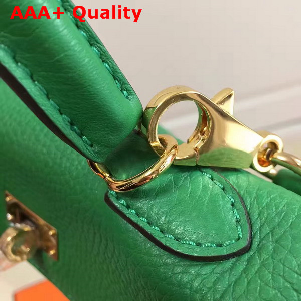 Hermes Mini Kelly Green Togo Leather Replica