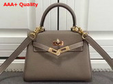 Hermes Mini Kelly Grey Togo Leather Replica