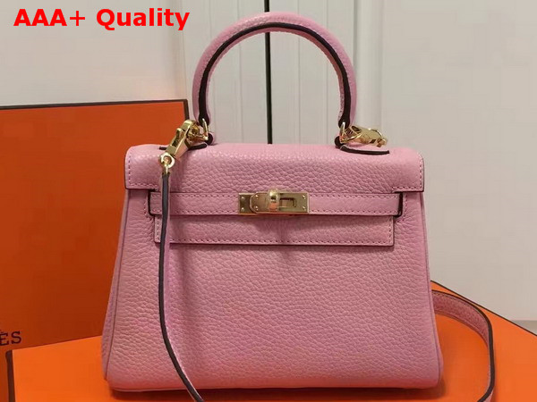 Hermes Mini Kelly Pink Togo Leather Replica
